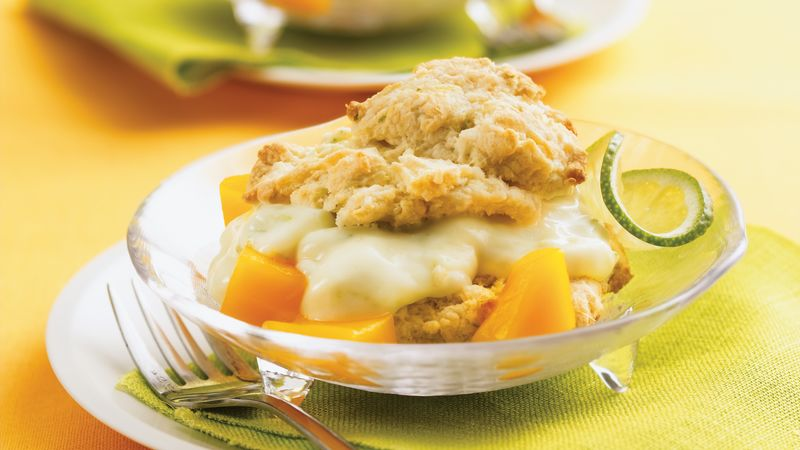 Mango-Lime Shortcakes