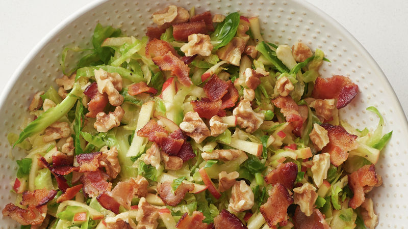 Brussels Sprout Slaw with Honey-Mustard Dressing