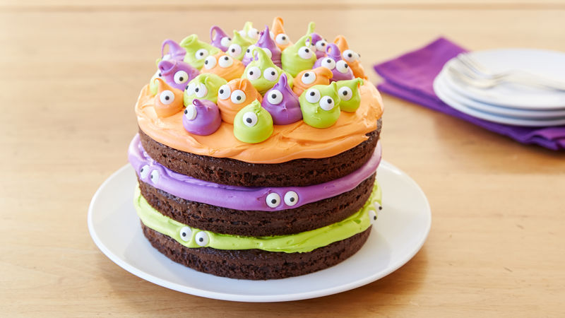 Spooky Eyeball Halloween Cake Recipe Bettycrocker Com