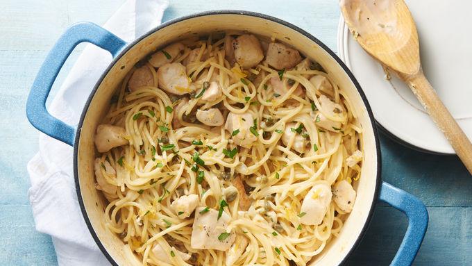 One-Pot Chicken Piccata Pasta