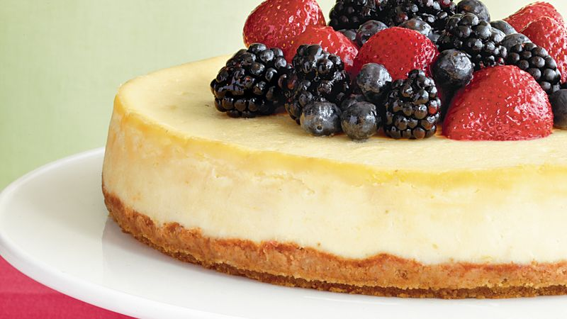 Mascarpone-Berry Cheesecake