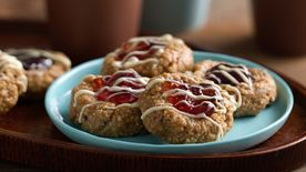 No-Bake Granola Jam Thumbprint Cookies
