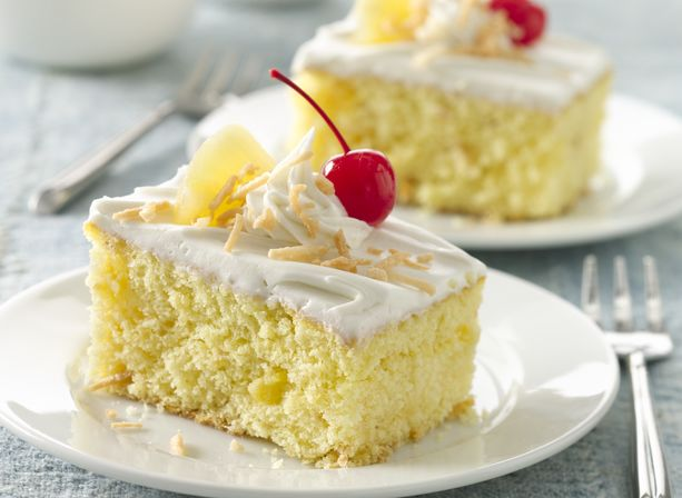Pina Colada Cake With Rum Icing