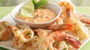 Chile-Lime Shrimp with Creamy Chipotle Dip
