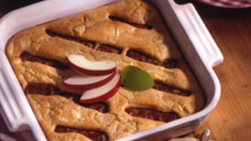 Apple-Sausage Oven Pancake