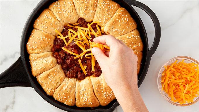 Skillet Bacon Cheeseburger Dip Sliders Recipe - BettyCrocker.com