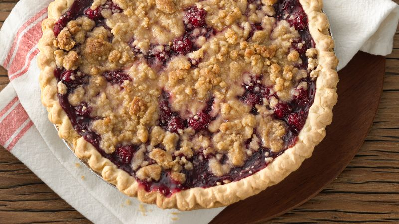 Peach Cherry Pie with Crumb Topping | Beantown Baker |Cherry Pie With Crumb Topping