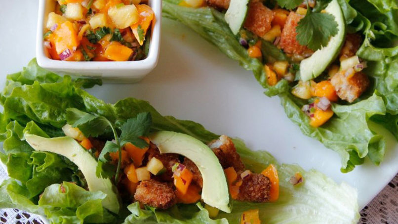 Tropical Green Tacos with Fish