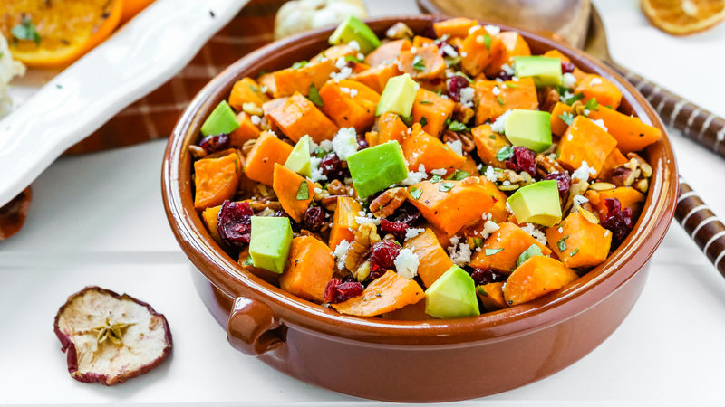 Avocado and Roasted Yam Salad