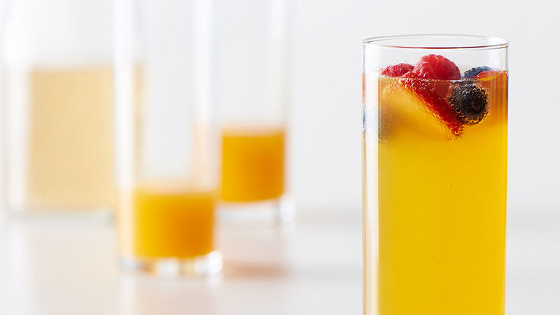 Peach Bellini Mocktails