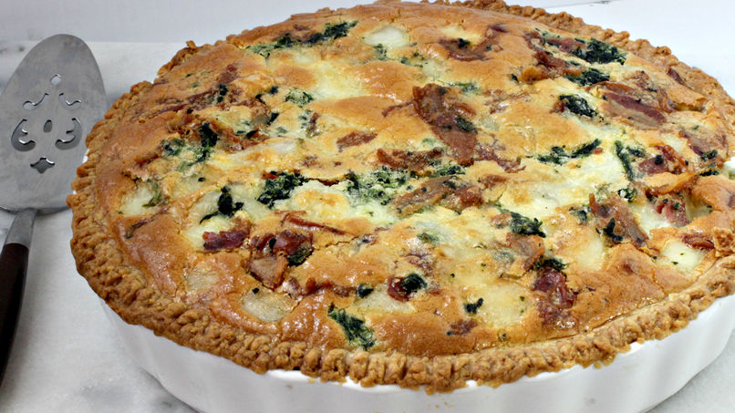 Spinach and Bacon Tart