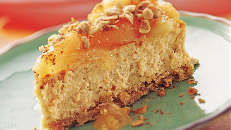 Pastel de Queso Streusel de Manzana y Canela