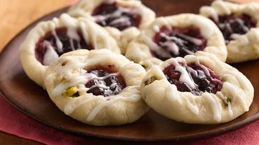 Lemon Pistachio Blackberry Thumbprints