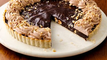Decadent Chocolate Hazelnut Tart