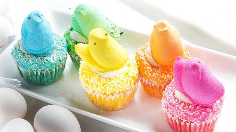 Rainbow PEEPS® Reveal Cupcakes