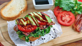 Bacon-Avocado-Lettuce-Tomato Snack Sandwich