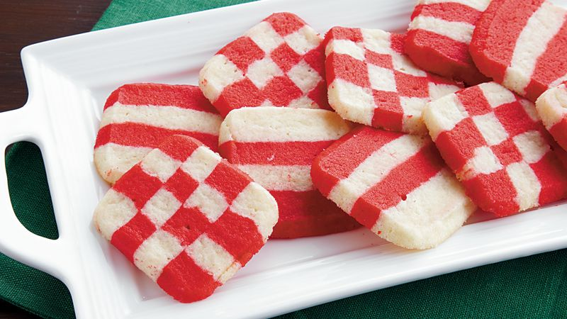Striped Peppermint Cookies