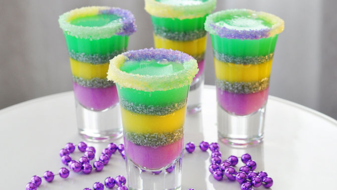 King Cake Jello Shots Recipe