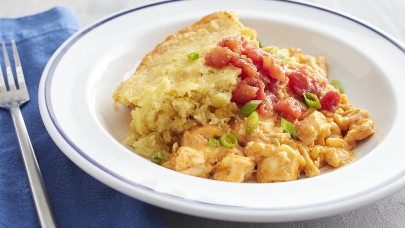 Slow-Cooker Spicy Cheddar Chicken Cornbread