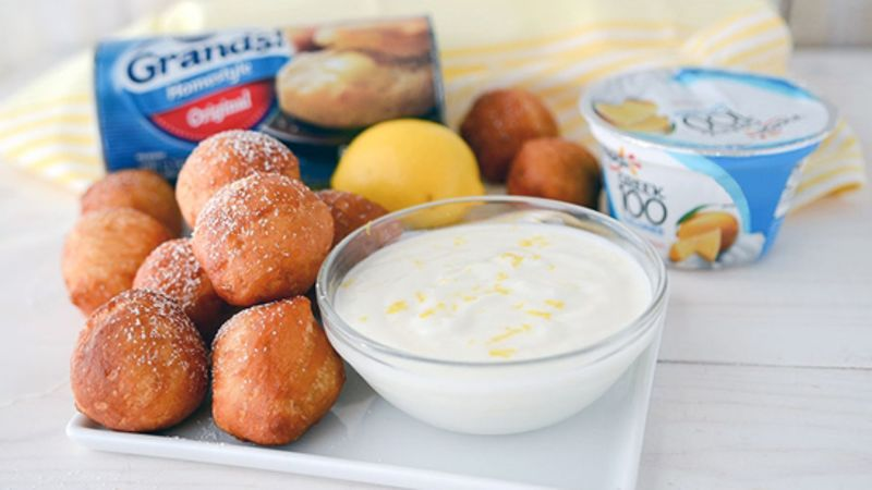 Doughnut Holes with Sweet Lemon Dip