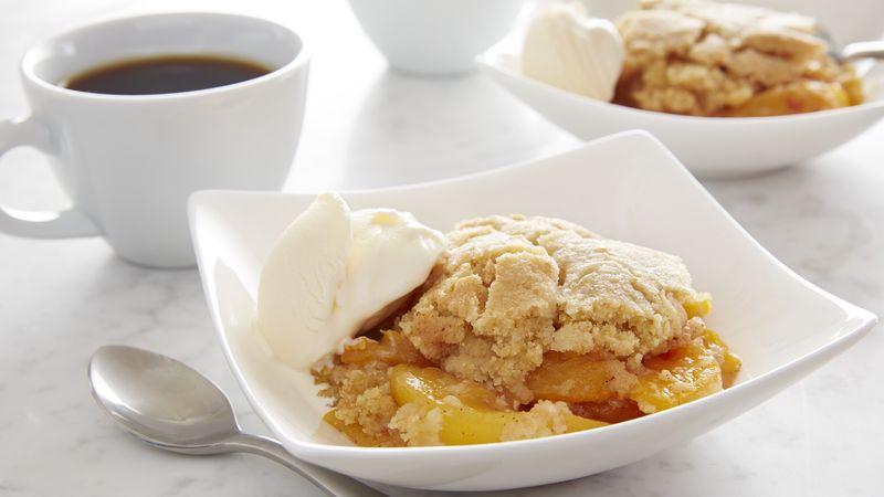 Sugar Cookie Peach Cobbler