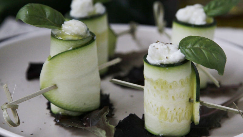 Zucchini Ricotta Roll-Ups