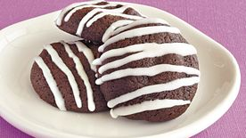 Glazed Chocolate-Cherry Cookies