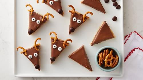 Easy Reindeer Cookie Bars