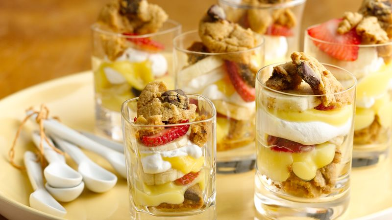 Peanut Butter and Chocolate Chunk Trifle Shots