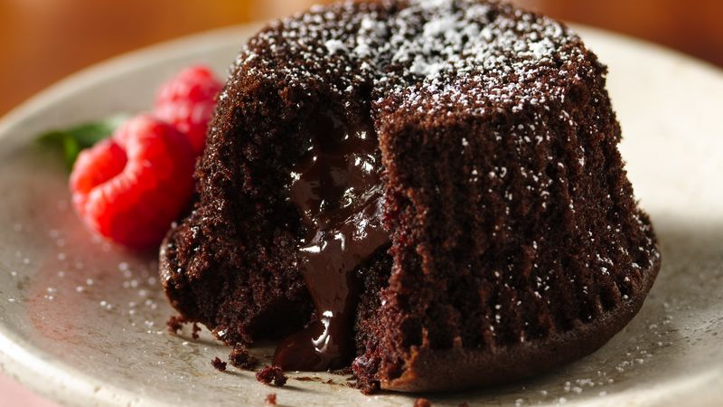 GlutenFree Molten Chocolate Cupcakes Recipe BettyCrockercom
