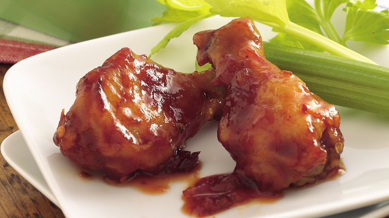 Chipotle Chicken Drummettes Recipe Bettycrocker Com