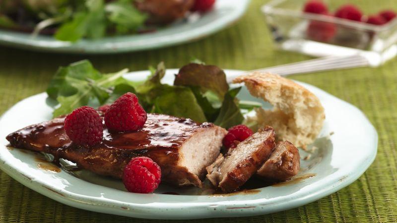 Grilled Raspberry-Glazed Chicken