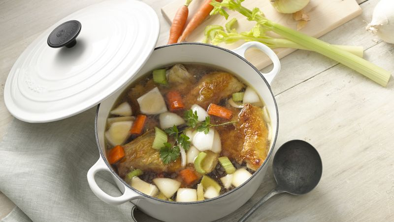 Roasted Chicken and Broth