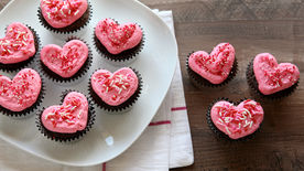 Chocolate Heart Cupcakes