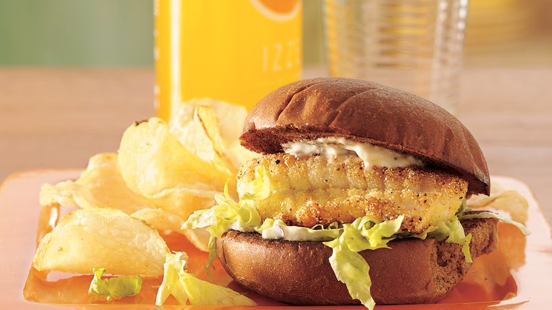 Lemon-Pepper Fish Fillet Sandwiches