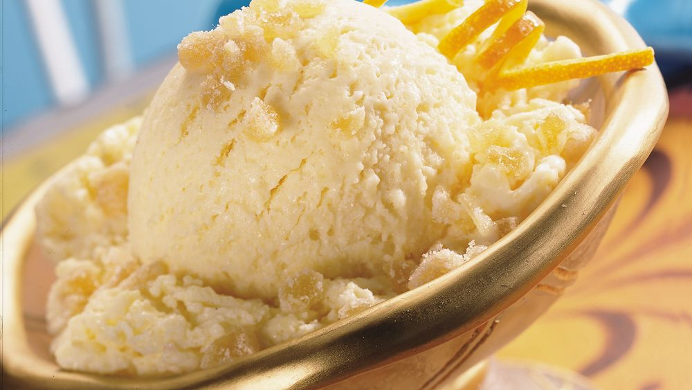 Ginger-Peach Ice Cream Dessert