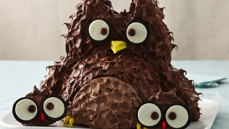 Owl with Babies Cake Recipe BettyCrockercom