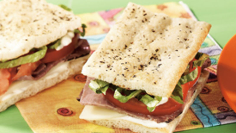 Easy Beef Focaccia Sandwiches Recipe Pillsbury Com