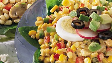 Curried Yellow and White Corn Salad