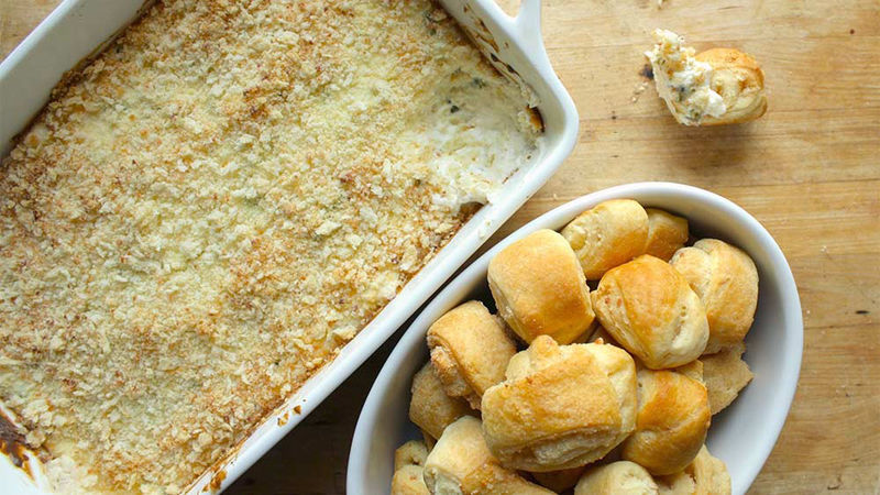 Jalapeño Popper Dip with Cheesy Crescent Dippers