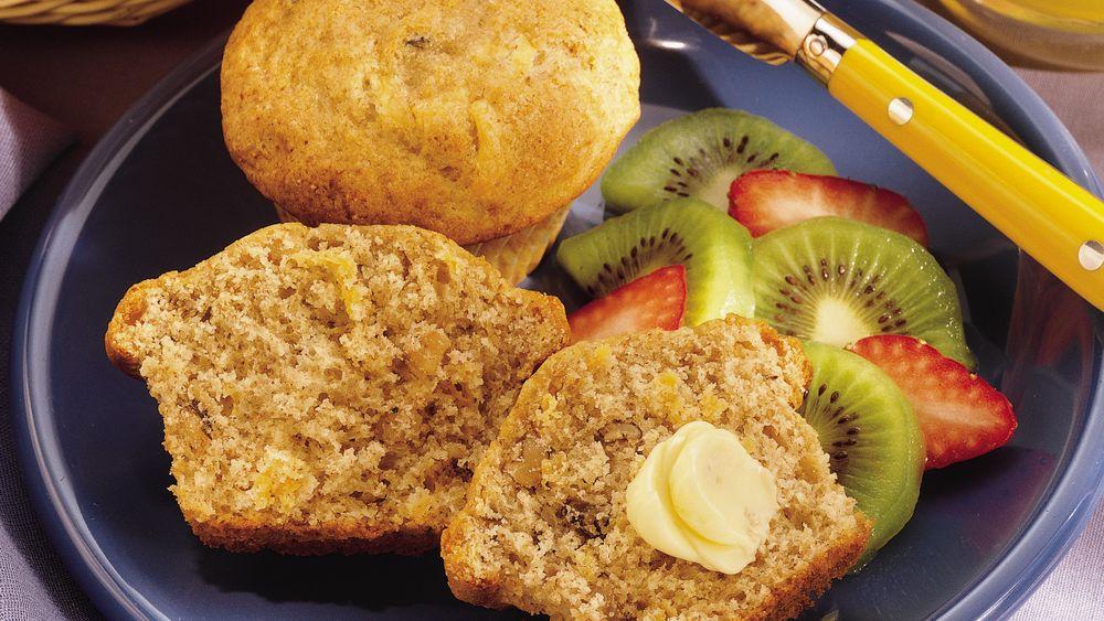 Cheddar-Walnut-Banana Muffins