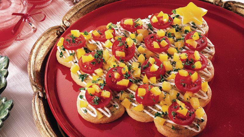 Holiday Herb Crescent Trees Recipe Pillsbury Com