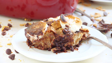 Overnight S'mores French Toast Casserole