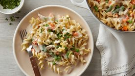 One-Pot Creamy Chicken Pot Pie Pasta