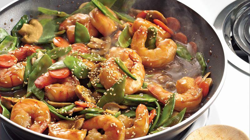 Sesame Shrimp Stir Fry Recipe Bettycrocker Com