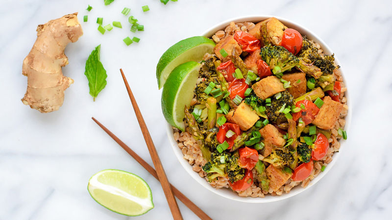Ginger Tofu Stir Fry Recipe Tablespoon Com