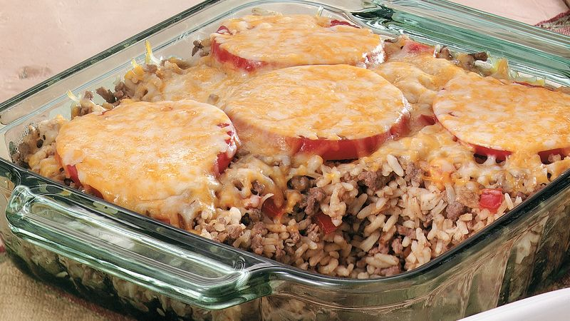 Cheesy Beef and Tomato Bake