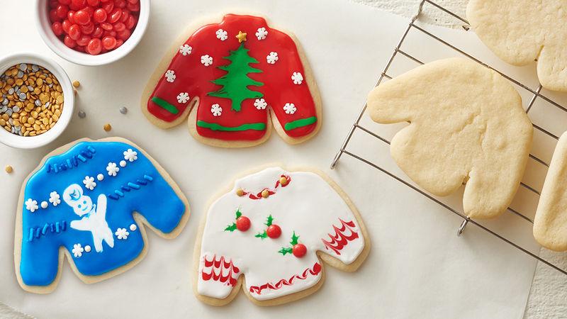 Ugly Christmas Sweater Sugar Cookies