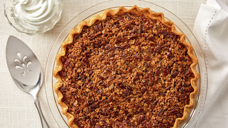 Decadent Pecan Pie (lighter recipe)