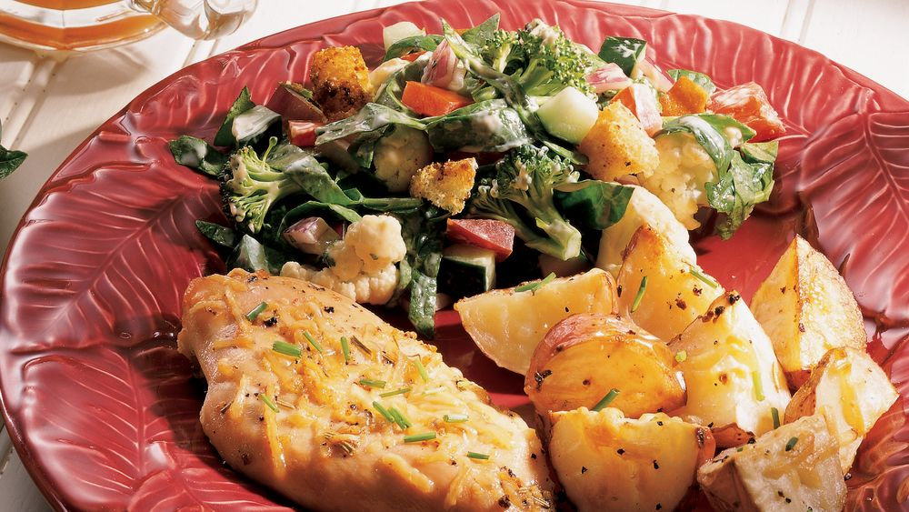 Chopped Harvest Vegetable Layered Salad